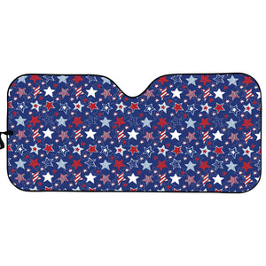 4th of July American Star Pattern Print Car Sun Shade