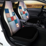 4th of July USA Denim Patchwork Print Universal Fit Car Seat Covers