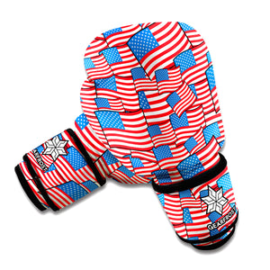 4th of July USA Flag Pattern Print Boxing Gloves