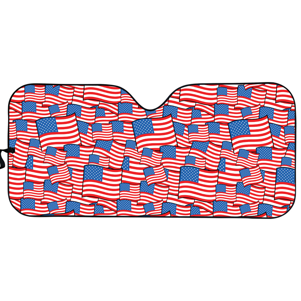 4th of July USA Flag Pattern Print Car Sun Shade