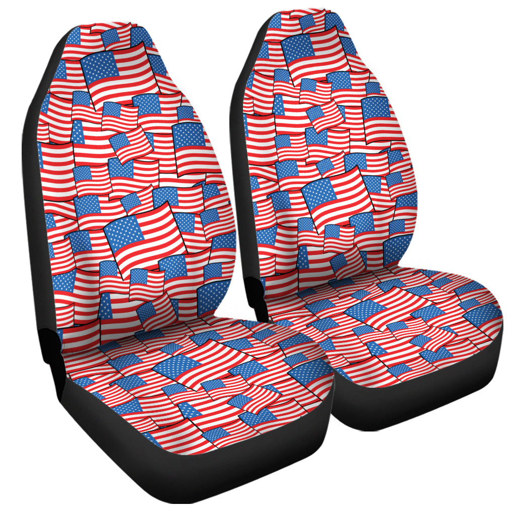 4th of July USA Flag Pattern Print Universal Fit Car Seat Covers