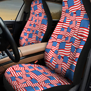 GePrint American Flag Pattern Car Seatbelt Covers 2 Pack,Neoprene Safety Seatbelt Shoulder Strap Covers Universal Seat Cover Pads Cover for Any Car Seat Belt and Luggage Tote Bag,Backpack