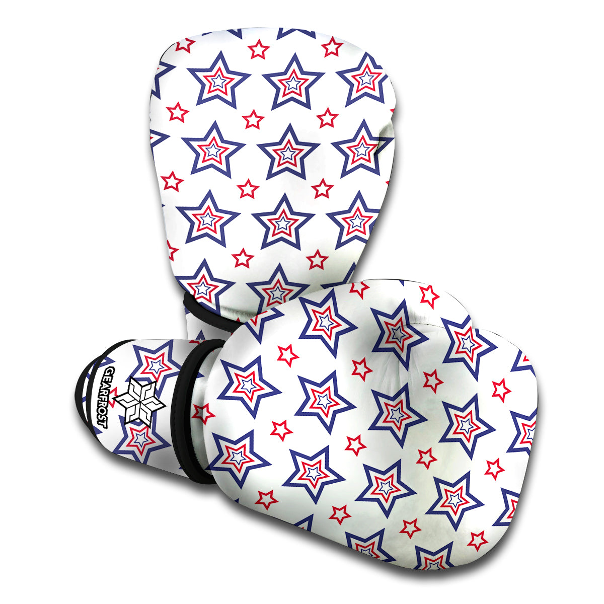 4th of July USA Star Pattern Print Boxing Gloves