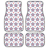 4th of July USA Star Pattern Print Front and Back Car Floor Mats