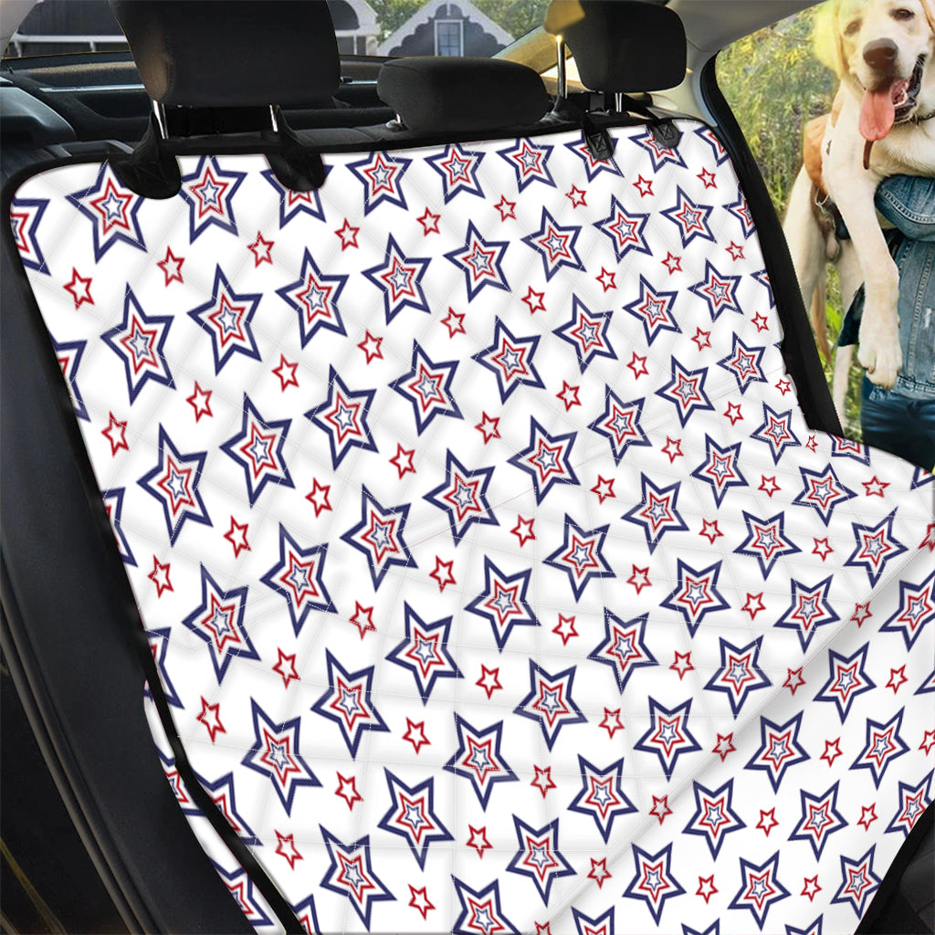 4th of July USA Star Pattern Print Pet Car Back Seat Cover