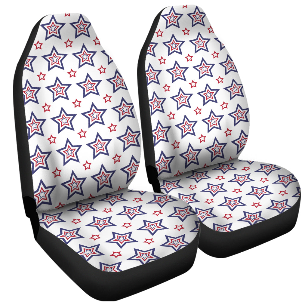 4th of July USA Star Pattern Print Universal Fit Car Seat Covers