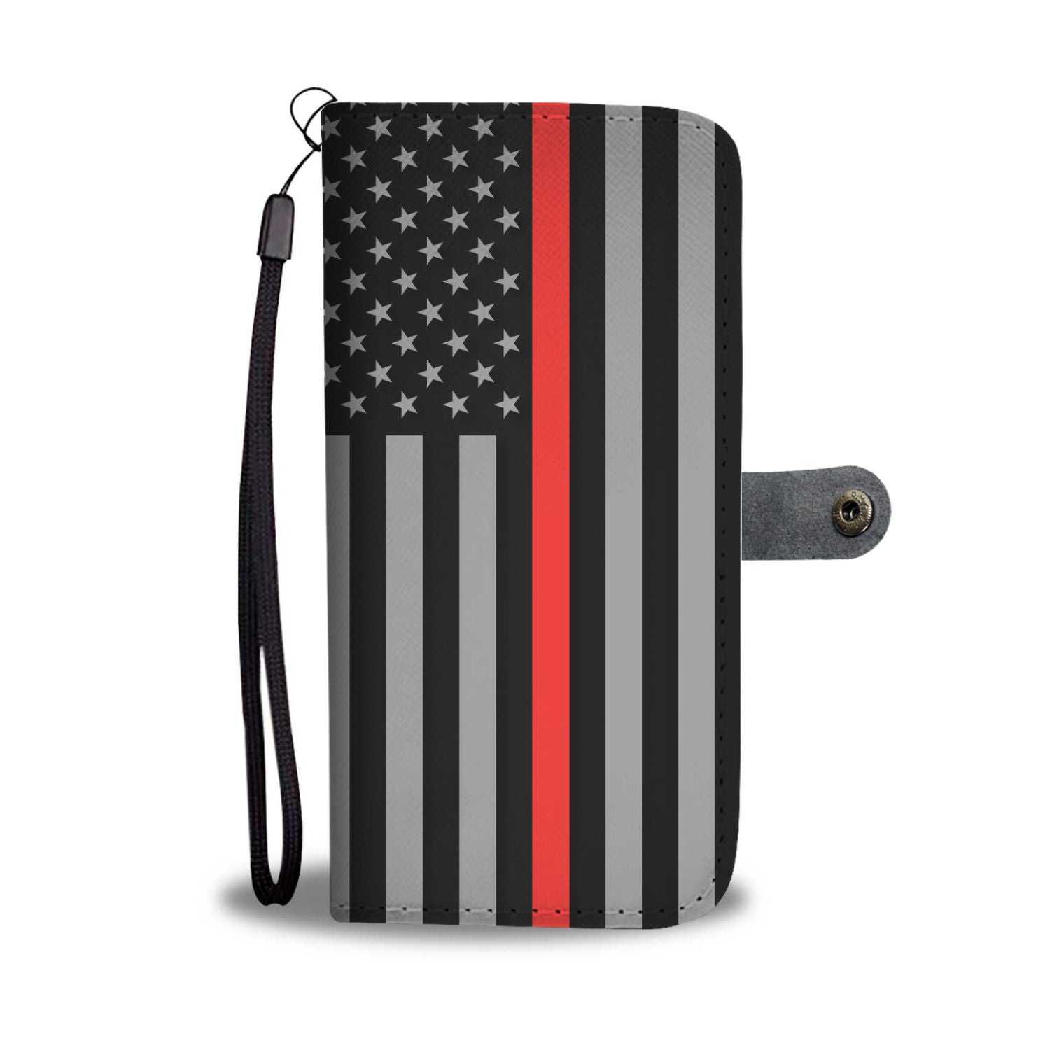 Thin Red Line Wallet Phone Case