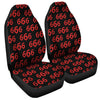 666 Satan Pattern Print Universal Fit Car Seat Covers