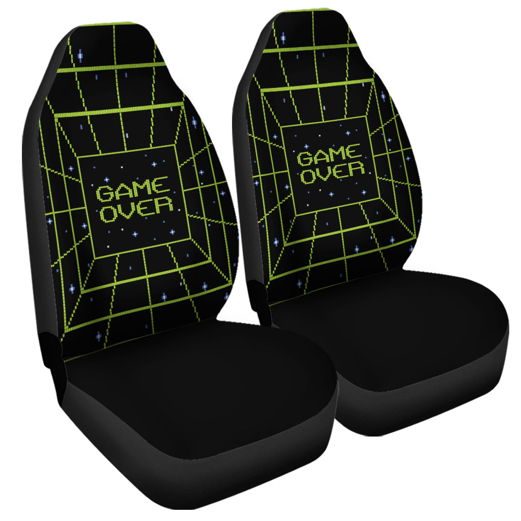 8-Bit Game Over Print Universal Fit Car Seat Covers