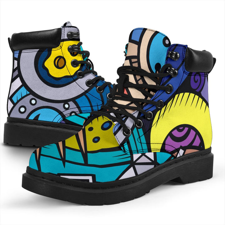 Abstract Cartoon Galaxy Space Print All Season Boots GearFrost