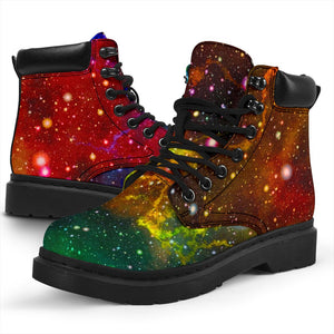 Abstract Colorful Galaxy Space Print All Season Boots GearFrost