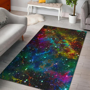 Abstract Colorful Galaxy Space Print Area Rug GearFrost