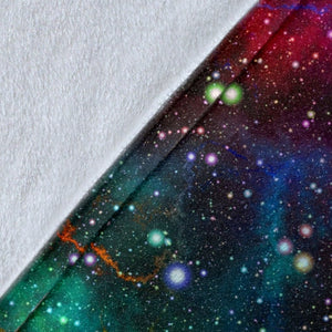 Abstract Colorful Galaxy Space Print Blanket GearFrost