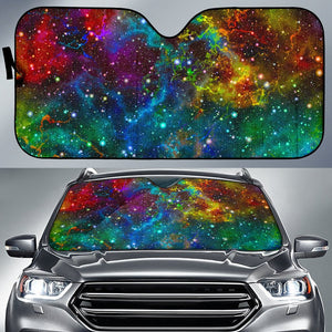 Abstract Colorful Galaxy Space Print Car Sun Shade GearFrost