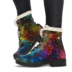 Abstract Colorful Galaxy Space Print Comfy Boots GearFrost