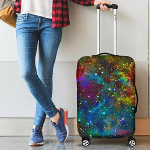 Abstract Colorful Galaxy Space Print Luggage Cover GearFrost