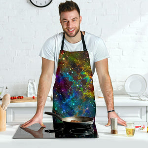 Abstract Colorful Galaxy Space Print Men's Apron GearFrost
