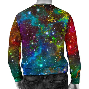 Abstract Colorful Galaxy Space Print Men's Crewneck Sweatshirt GearFrost