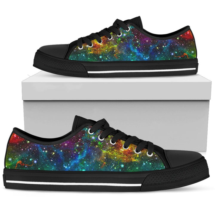 Abstract Colorful Galaxy Space Print Men's Low Top Shoes GearFrost