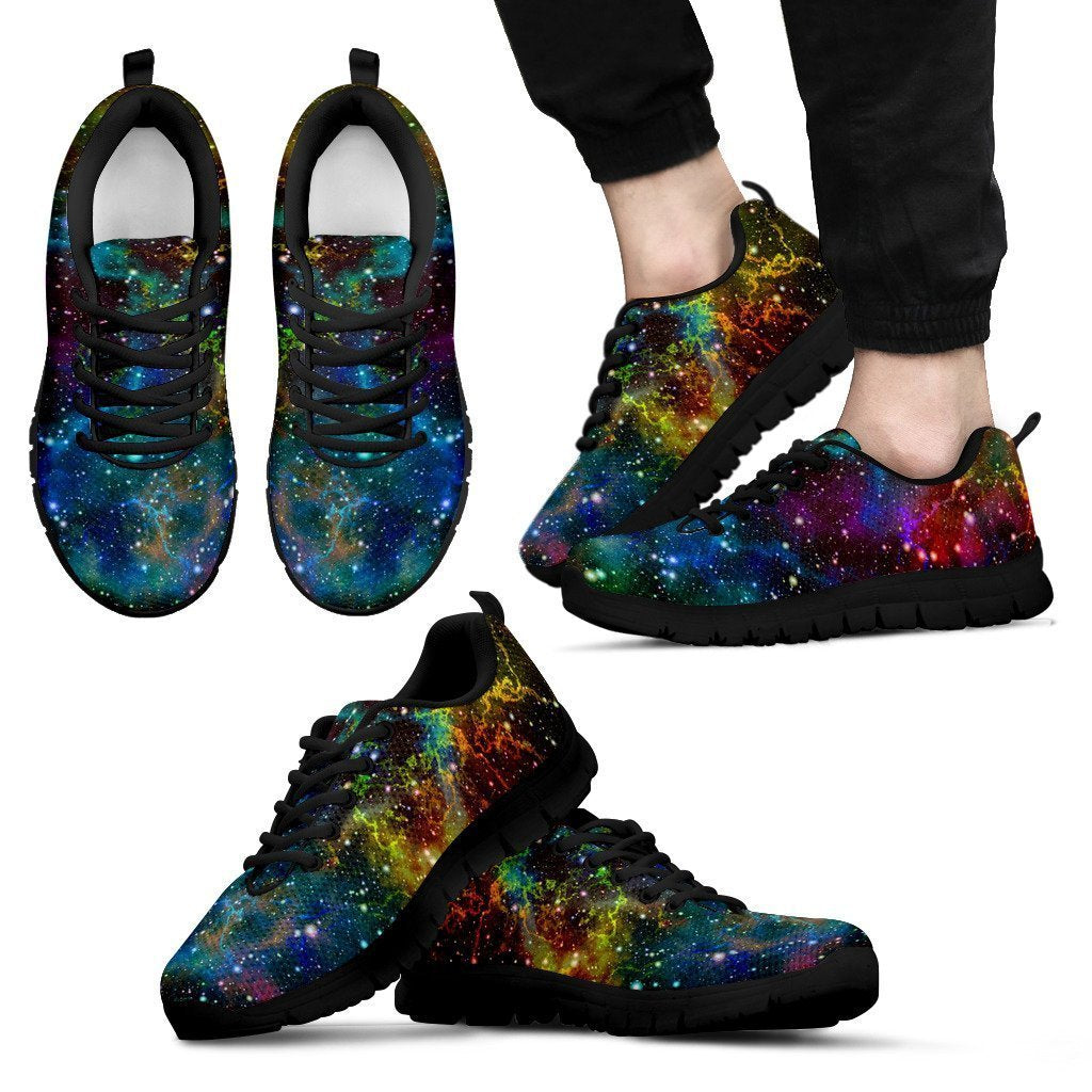 Abstract Colorful Galaxy Space Print Men's Sneakers GearFrost