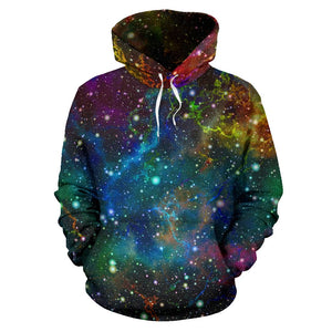 Abstract Colorful Galaxy Space Print Pullover Hoodie GearFrost