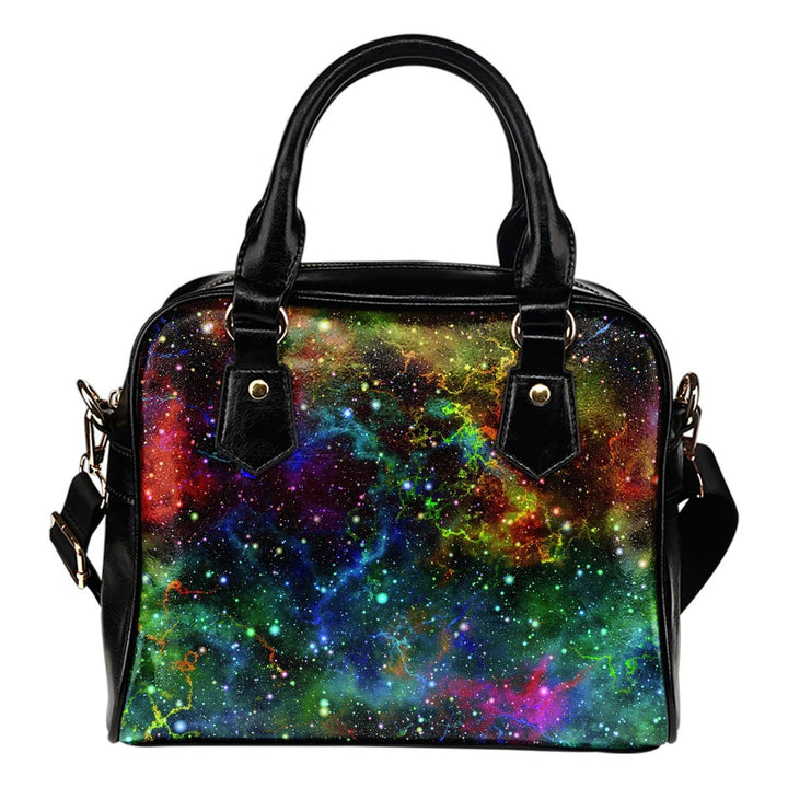Abstract Colorful Galaxy Space Print Shoulder Handbag GearFrost