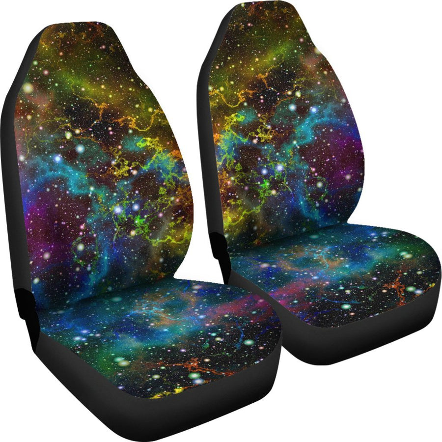 Abstract Colorful Galaxy Space Print Universal Fit Car Seat Covers GearFrost