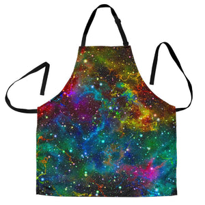 Abstract Colorful Galaxy Space Print Women's Apron GearFrost