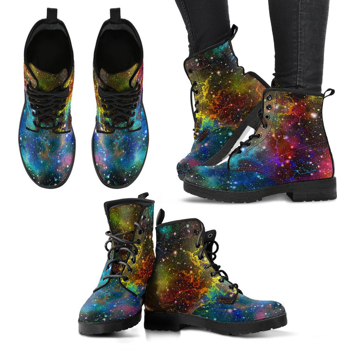 Abstract Colorful Galaxy Space Print Women's Boots GearFrost