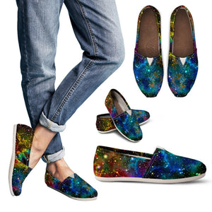 Abstract Colorful Galaxy Space Print Women's Casual Shoes GearFrost