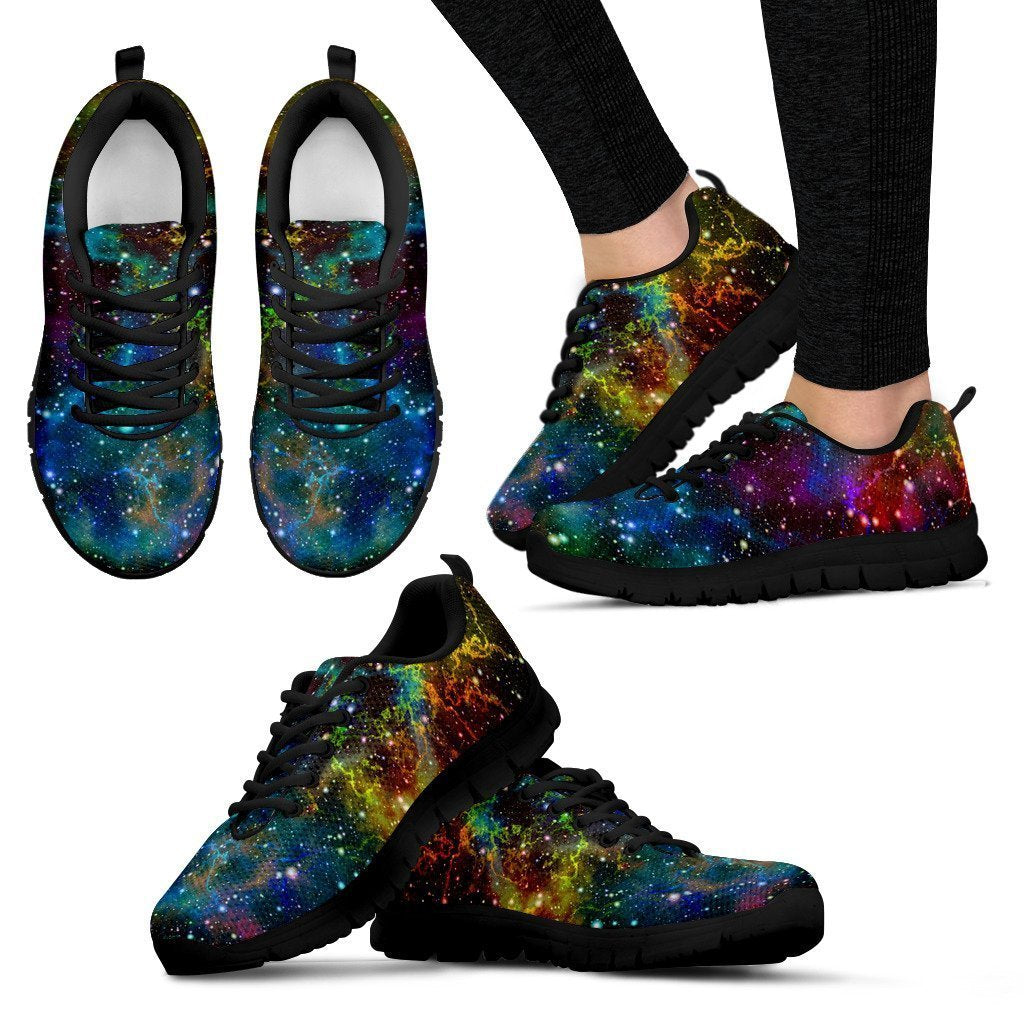 Abstract Colorful Galaxy Space Print Women's Sneakers GearFrost