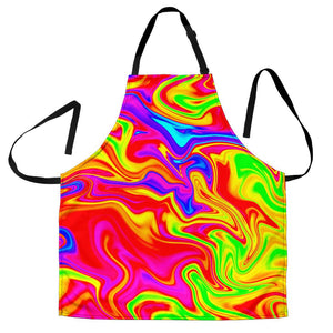 Abstract Colorful Liquid Trippy Print Women's Apron GearFrost