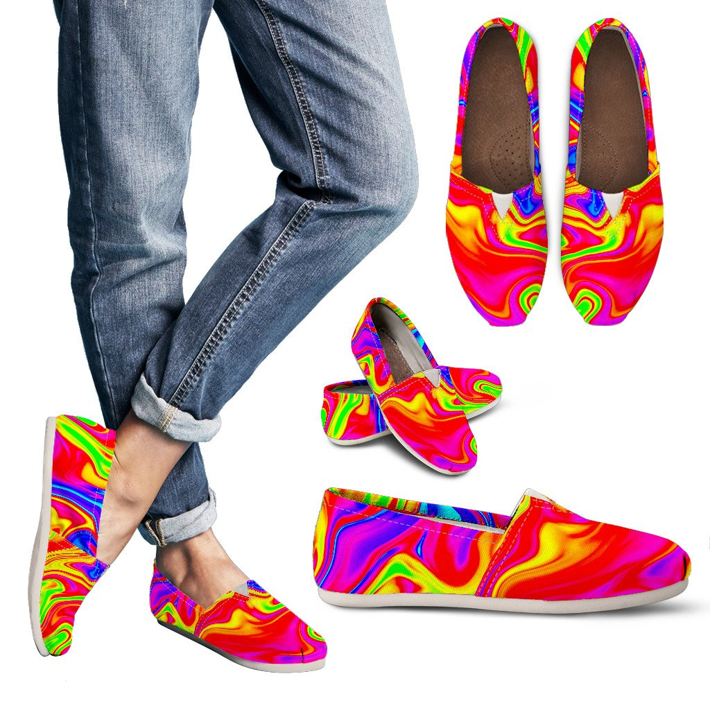 Abstract Colorful Liquid Trippy Print Women's Casual Shoes GearFrost