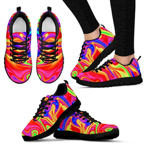Abstract Colorful Liquid Trippy Print Women's Sneakers GearFrost
