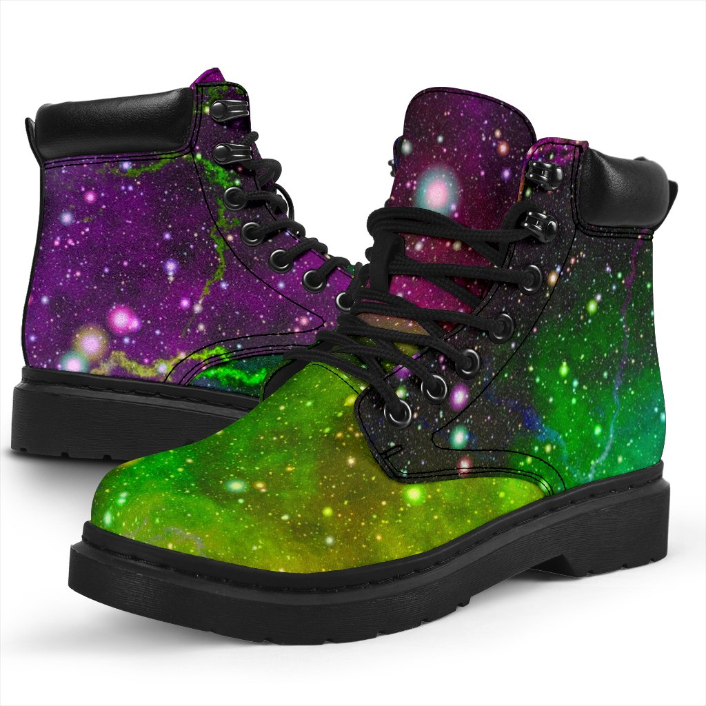 Abstract Dark Galaxy Space Print All Season Boots GearFrost
