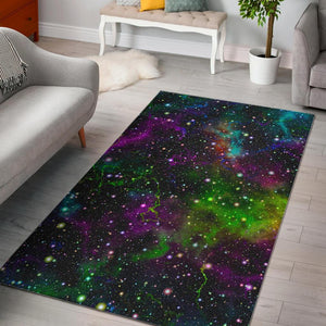 Abstract Dark Galaxy Space Print Area Rug GearFrost