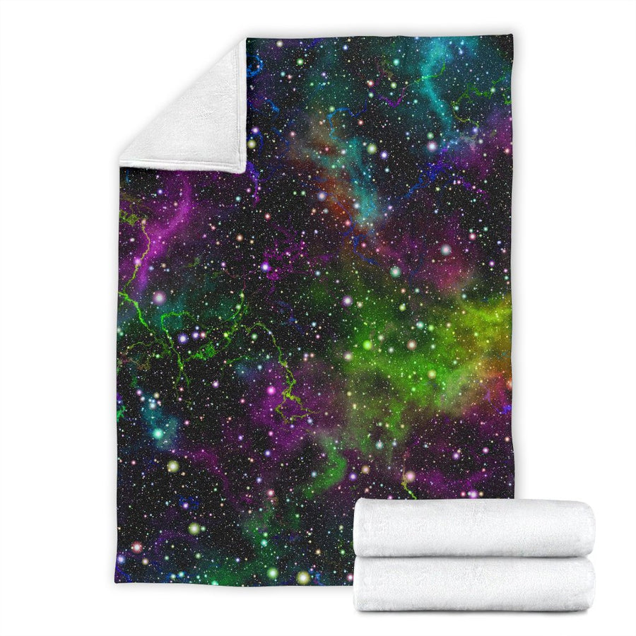 Abstract Dark Galaxy Space Print Blanket GearFrost