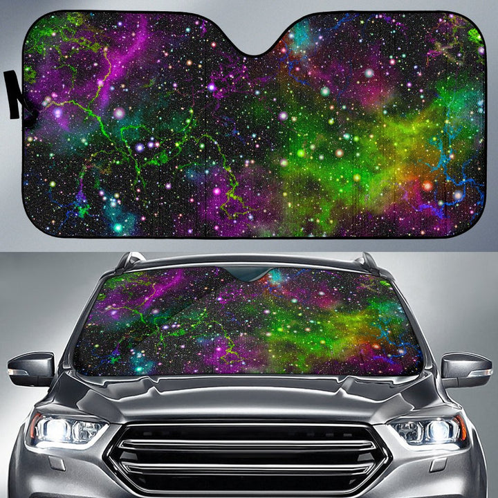 Abstract Dark Galaxy Space Print Car Sun Shade GearFrost