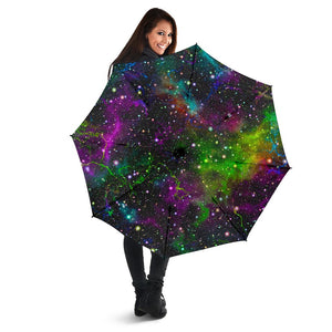 Abstract Dark Galaxy Space Print Foldable Umbrella GearFrost
