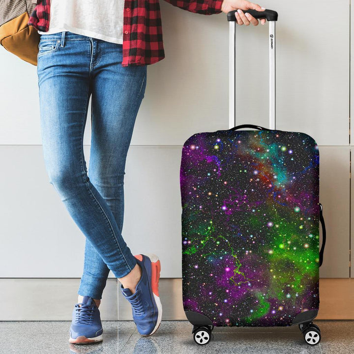 Abstract Dark Galaxy Space Print Luggage Cover GearFrost