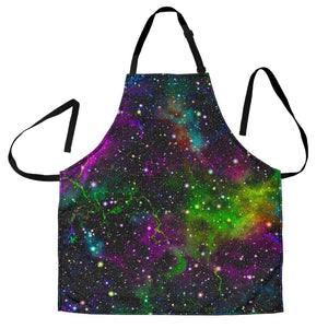 Abstract Dark Galaxy Space Print Men's Apron GearFrost