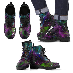 Abstract Dark Galaxy Space Print Men's Boots GearFrost