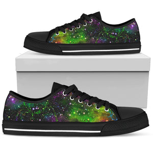 Abstract Dark Galaxy Space Print Men's Low Top Shoes GearFrost