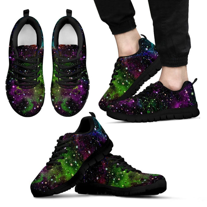 Abstract Dark Galaxy Space Print Men's Sneakers GearFrost
