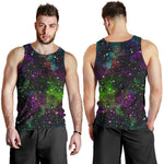 Abstract Dark Galaxy Space Print Men's Tank Top GearFrost