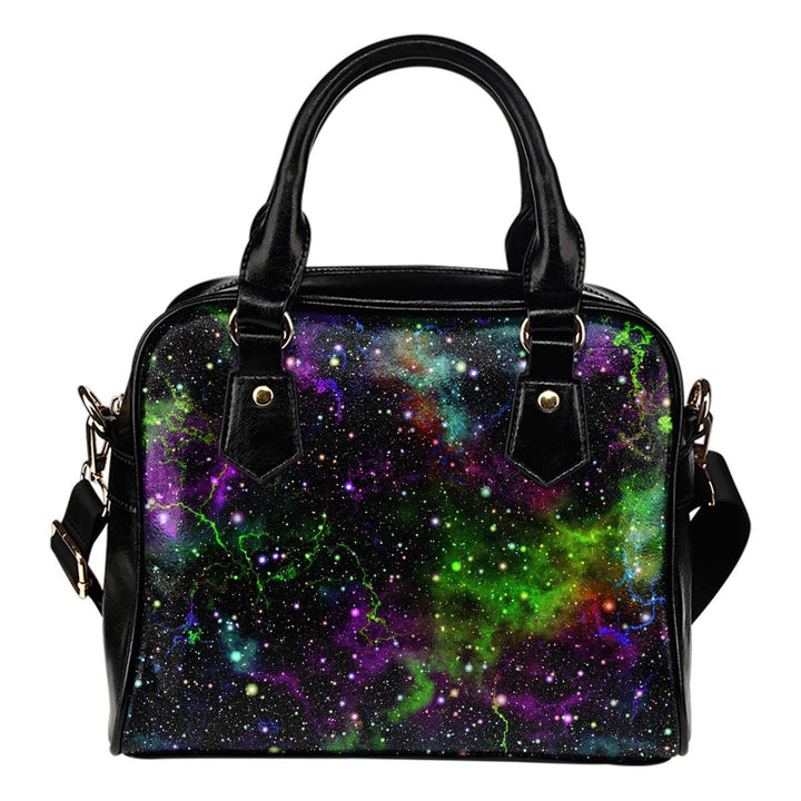Abstract Dark Galaxy Space Print Shoulder Handbag GearFrost