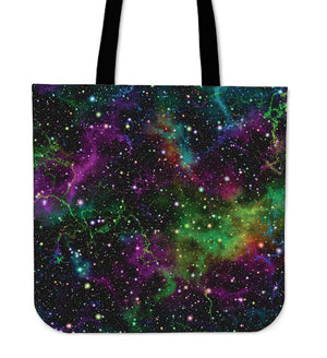 Abstract Dark Galaxy Space Print Tote Bag GearFrost