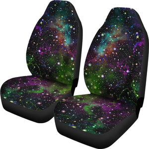 Abstract Dark Galaxy Space Print Universal Fit Car Seat Covers GearFrost