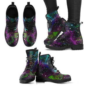 Abstract Dark Galaxy Space Print Women's Boots GearFrost