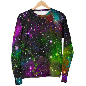 Abstract Dark Galaxy Space Print Women's Crewneck Sweatshirt GearFrost